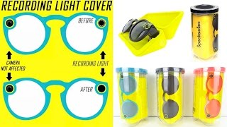 How To Turn Your Recording Light On Snapchat Spectacles Red, Blue, Pink, Gray Or Black!