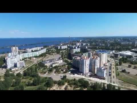 Ar. Drone Bebop flying at 120 Meters (400 feet) over Cherkasy, Ukraine