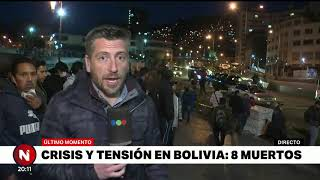 GRAVES PROTESTAS EN BOLIVIA DEJAN 8 MUERTOS - Telefe Noticias