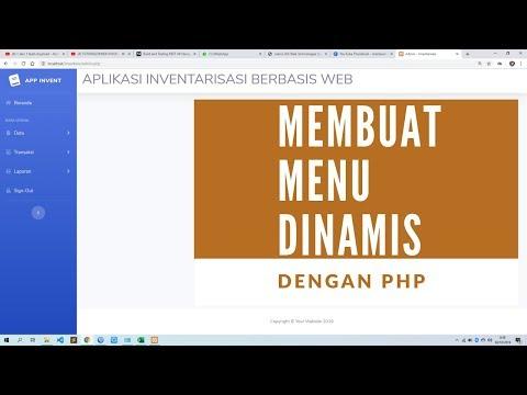 TUTORIAL5#WEB INVENTARIS #MEMBUAT MENU DINAMIS DI PHP.