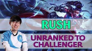 #281 Rush [Challenge 4-0] ADC Vayne vs Ezreal - Unranked to Challenger [Korea, Day 1]