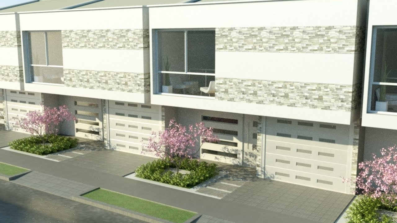 Casa moderna de dos pisos m x m estilo loft for Estilos de apartamentos