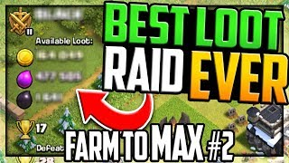 HUGE Loot! Biggest Raid YET in Clash of Clans Farm to MAX Episode #2!