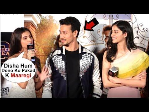 Tara Sutaria & Ananya Panday's FUNNY Reaction On DATING Tiger Shroff At SOTY 2 Trailer Launch