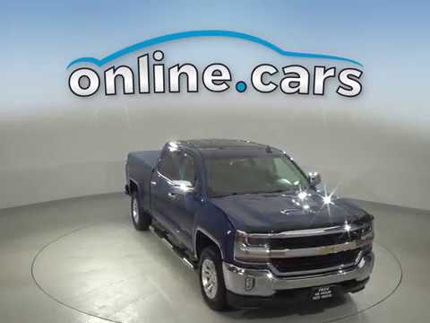 A11669GP Used 2018 Chevrolet Silverado 1500 LT 4WD Blue Crew Cab Test Drive, Review, For Sale