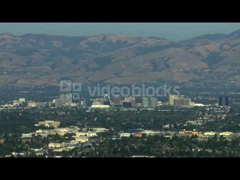 aerials usa san jose california suburbs silicon building tropical njexhczsx