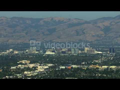 aerials usa san jose california suburbs silicon building tropical njexhczsx