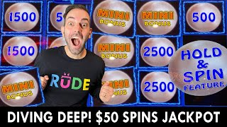 🧜🏼♀️ $50 Spins Jackpot 🧜🏼♀️ Diving Deep Searching for Magic Pearls!