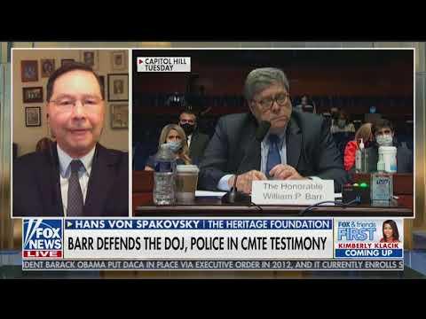 AG Barr Rightfully Defends Federal Response to Violent Rioting: Hans von Spakovsky