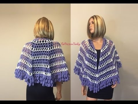 How To Crochet Capelet Inspired Shawl Pattern 394by