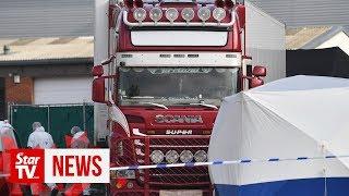British police find 39 bodies in truck container