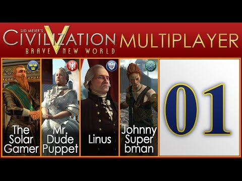 Civilization V Brave New World Multiplayer as Sweden - Episode 1 ...Dark Times in Sweden...