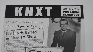 1957 KNXT CBS Television Affiliate Los Angeles Program Schedule with Sponsor Listings
