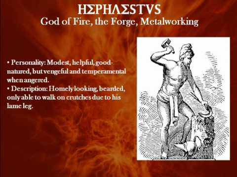 Hephaestus The Greek God Of Fire The Forge Metalworking