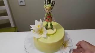 Выравнивание ганашем, покрытие торта мастикой