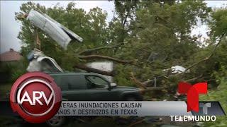 Imelda deja graves inundaciones en zonas de Texas | Al Rojo Vivo | Telemundo