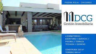 Venta Casa ubicada en Chamisero, 4 Dormitorios + Escritorio + Piscina + Quincho + Ampliaciones.