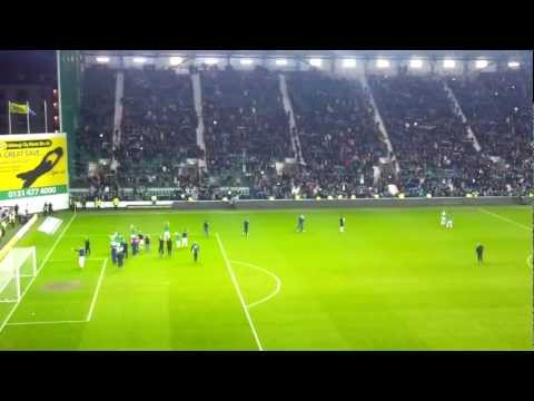 Hibees at Easter Road Singing Sunshine on Leith