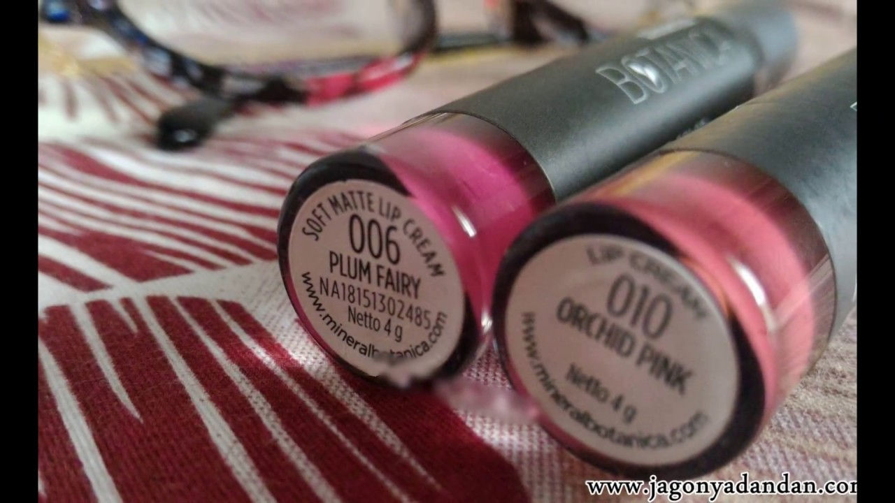 0822 8303 8261 8844 5550 Review Mineral Botanica Lipstick Youtube Vivid Matte