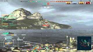 World of Warships Heavy Cruiser Myoko With my friend using New Mexico