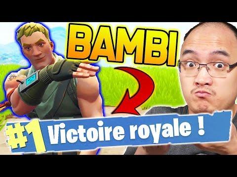 J'OFFRE MON TOP 1 À UN BAMBI ?! | Fortnite Battle Royale