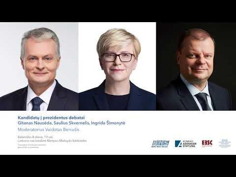 BNS prezidentiniai debatai 2019