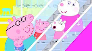 Peppa Pig Official Channel | Peppa Pig Goes Up and Down on an Escalator