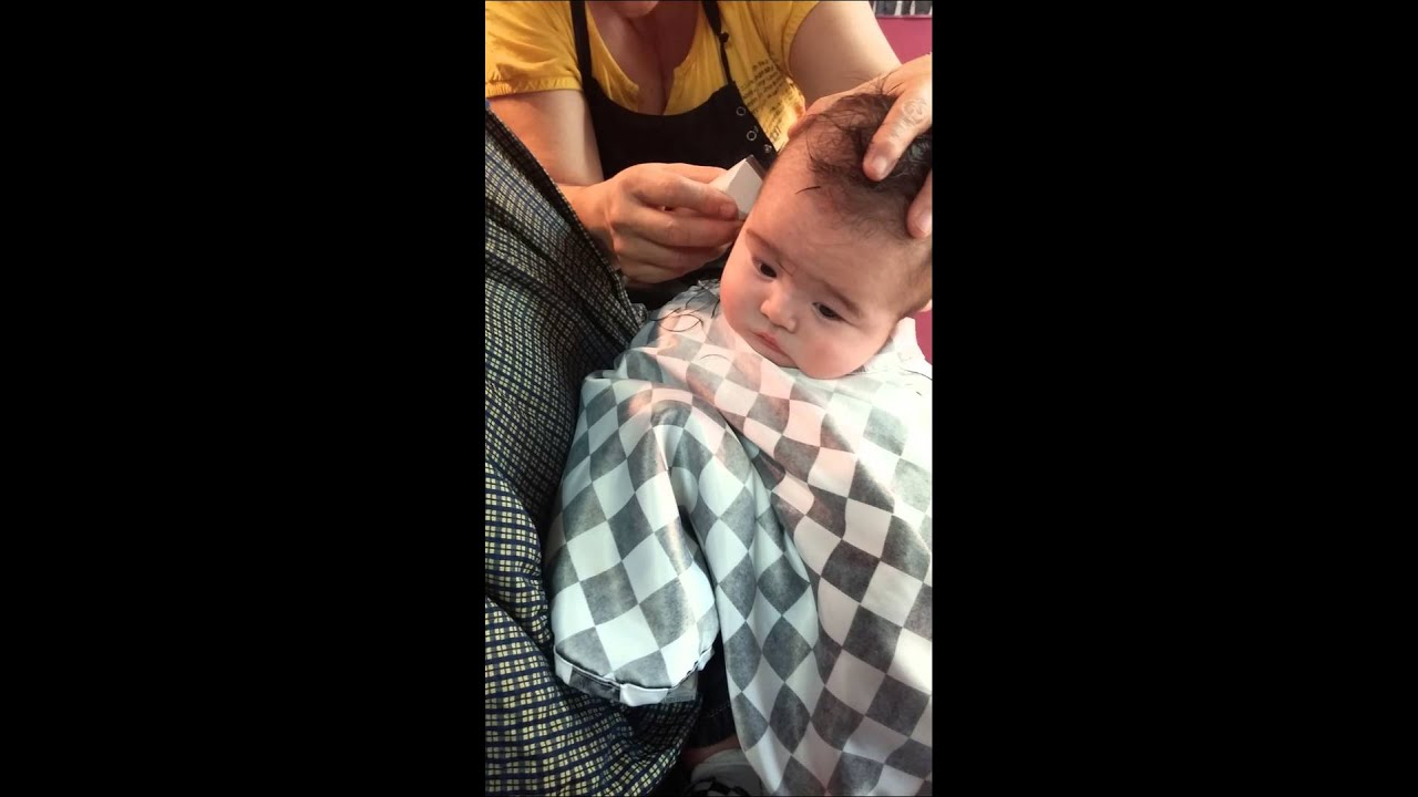 Babys First Haircut Was A Mohawk Youtube