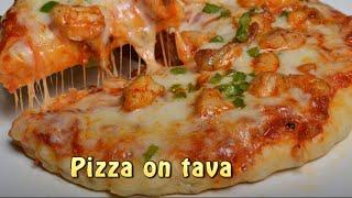 Pizza  without oven - Pizza Base recipe - Tawa Pizza Recipe - Pizza Sauce Recipe
