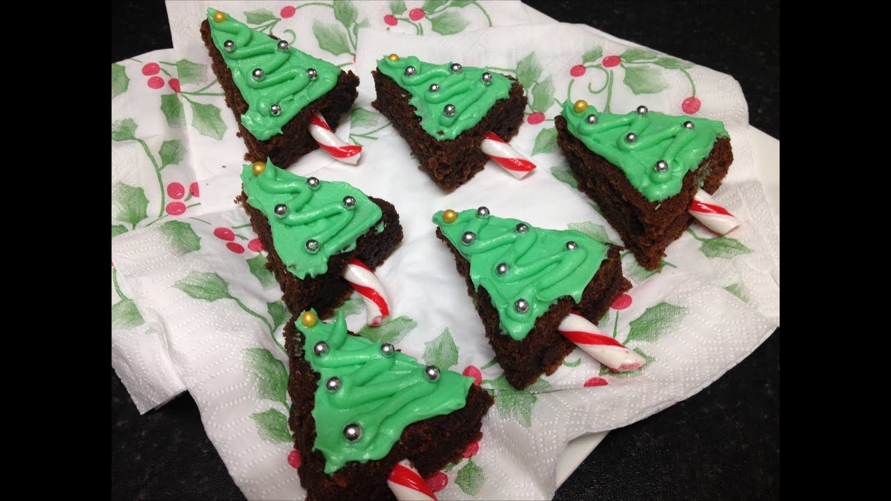 Christmas Tree Brownies Youtube