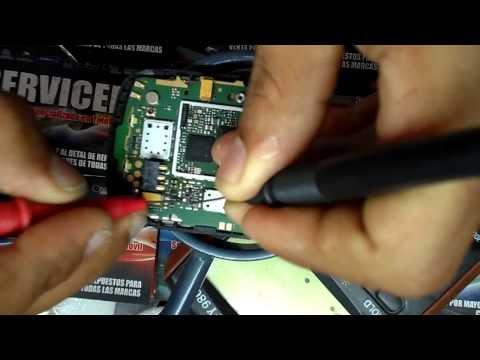 reparacion nokia c2-02 sin luz en display caso n° 2 , repair light display c2-02