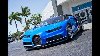Bugatti Chiron Start up Interior Exterior $3 Million 1,500HP HYPERCAR at Prestige Imports Miami