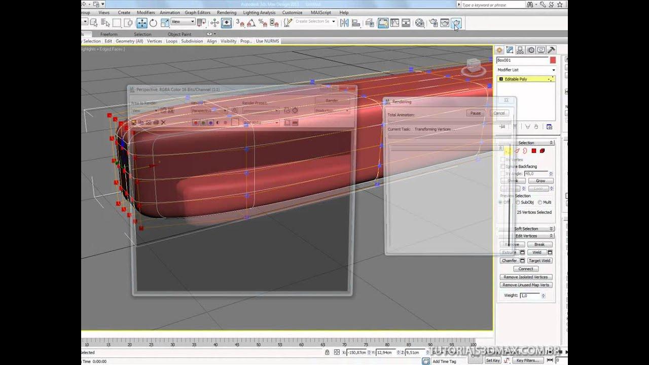 Tutorial 3d max modelar uma escova de dente parte i for Modelar habitacion 3d max
