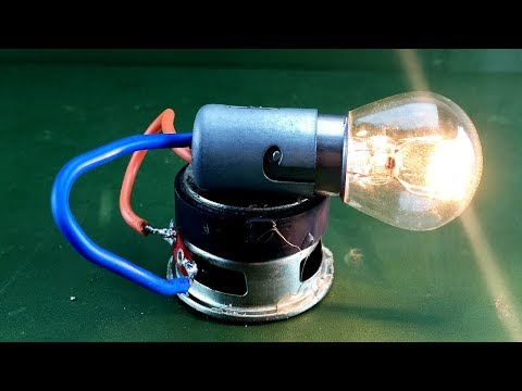 Amazing Free Energy Generator Using Speaker Magnet