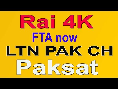 PakSat New Pakistani Channel LTN Family # Rai 4K FTA Channel Now