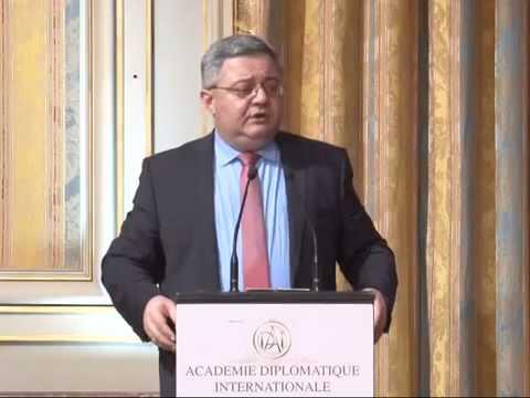 Chairman of Parliament Davit Usupashvili speech at International Diplomatic Academy, Paris, France.