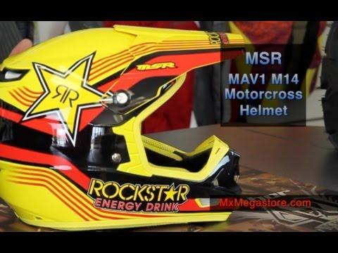2014 MSR MAV-1 Motocross Helmet Review by MxMegastore