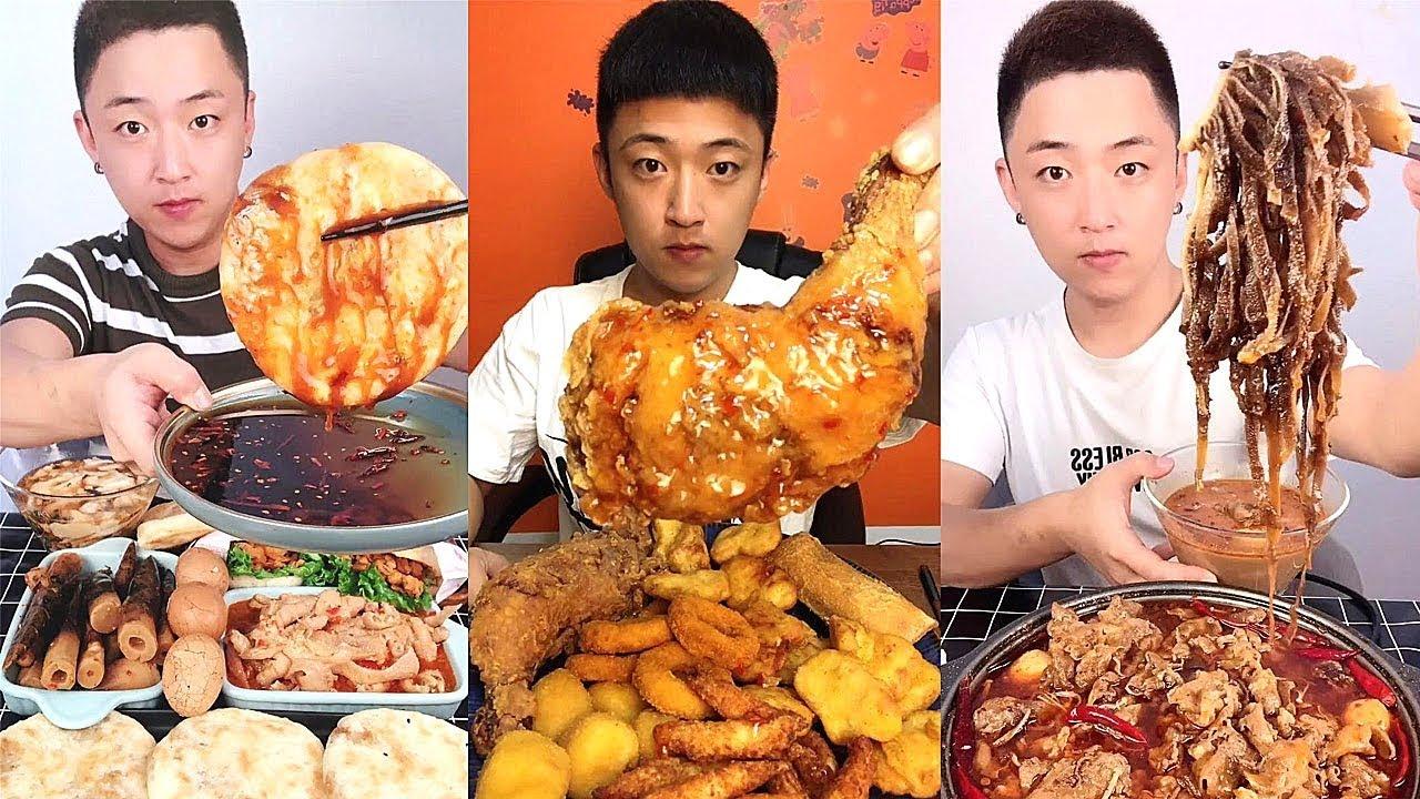 【大食い 】超激辛の生タコ 、中華料理はユニクですね!日本人なら出来ないな。。。!シーフドチャレンジ 、パート 一百八