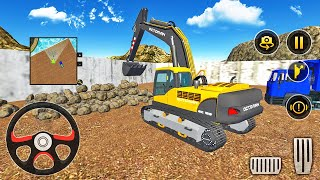 Heavy Excavator Loading Stones into Dump Truck - Construction Simulator 2021 - Android Gameplay