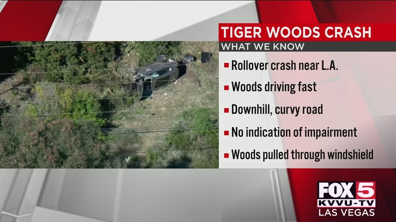 Tiger Woods seriously injured in crash on steep LA-area road