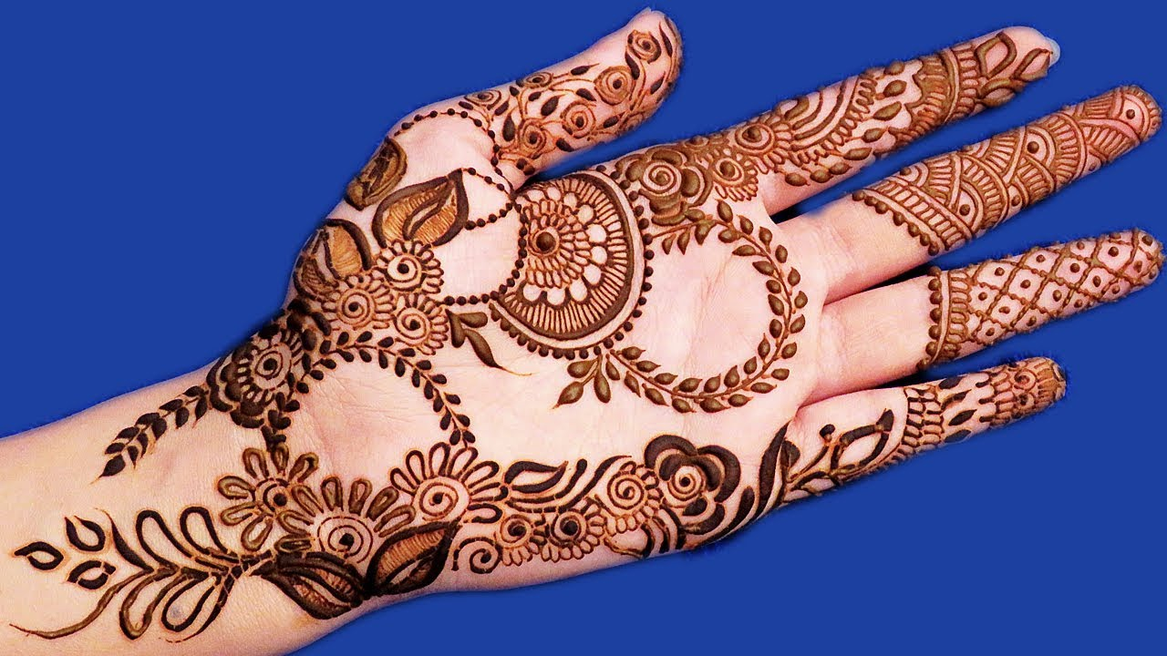 e5456304c Awesome Eid Mehndi Design for Hands | New Arabic Mehndi Design for ...