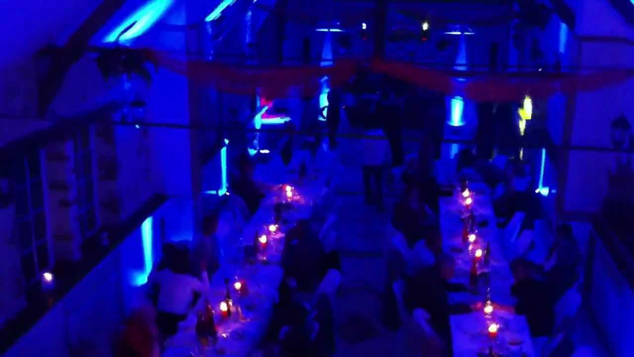 d coration de salle en couleur avec projecteur led pour mariage youtube