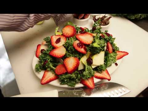 Organic Strawberry Kale Salad by Ayoma Wilen | Best Chefs America