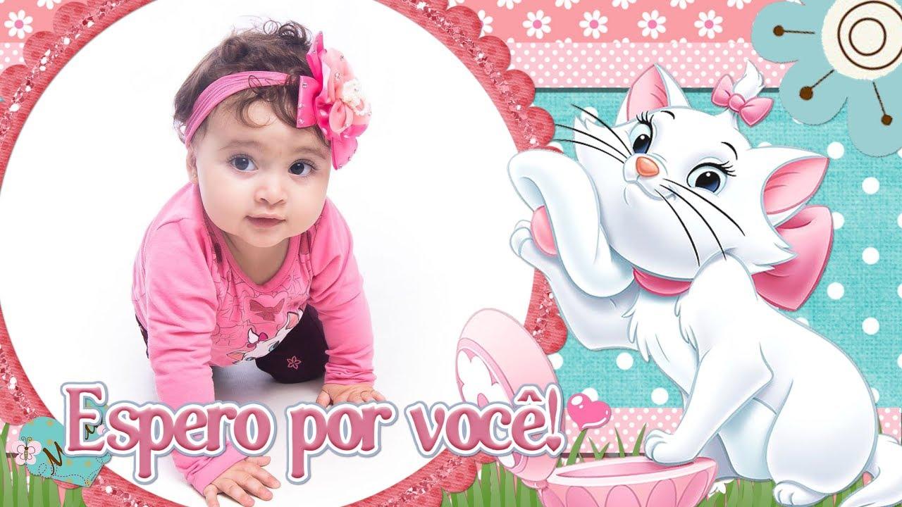 Convite Animado Gatinha Marie Heloisa Por Raquel Mendes Youtube