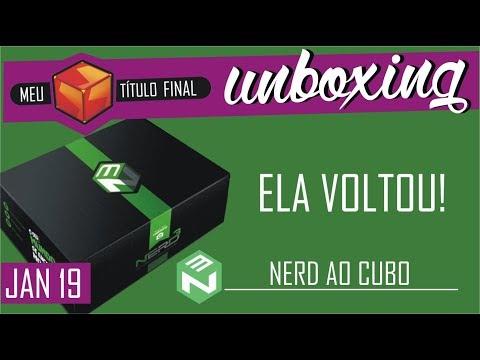 Será que melhorou? Unboxing NERD AO CUBO JAN 2019