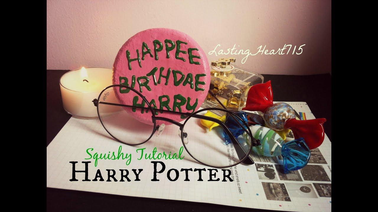 Diy Squishy Cake : Harry Potter s Birthday Cake- Homemade Squishy Tutorial - YouTube