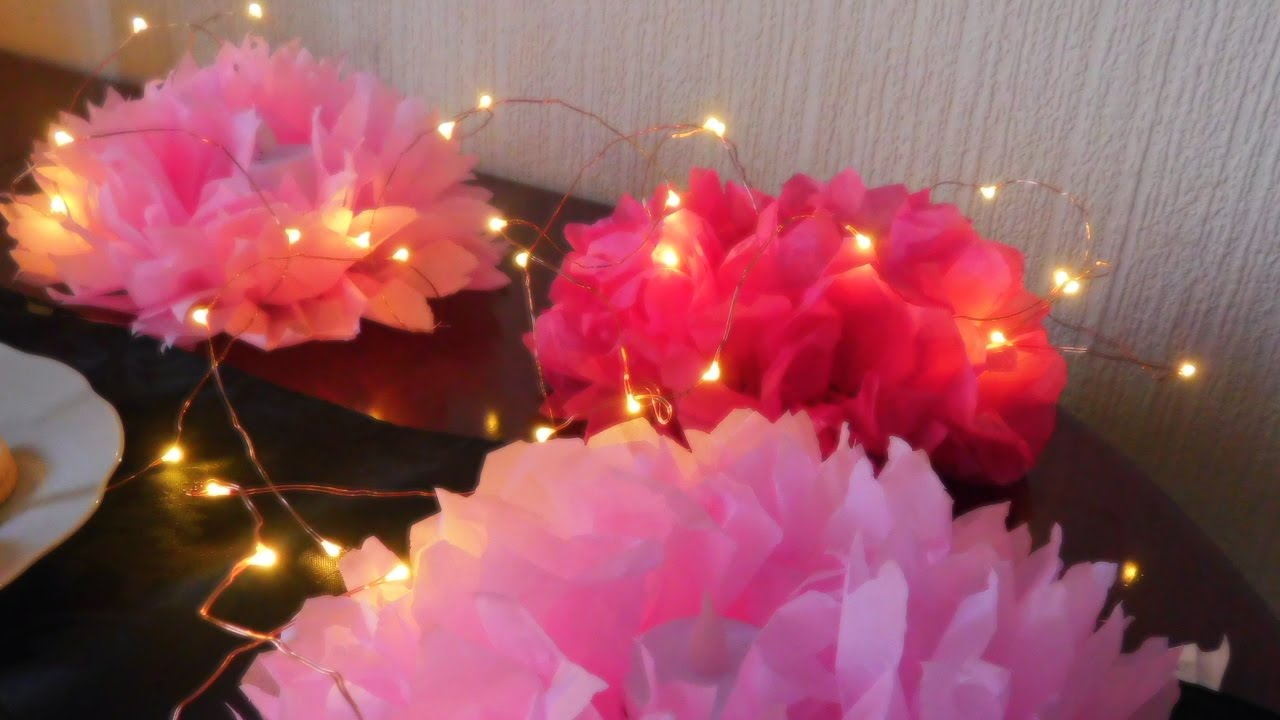 Diy Tissue Paper Flower Table Decoration
