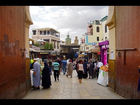 The Kingdom of Morocco Fez video travel  - Medina, madrasah Bou Inania, Bab Bou Jeloud / Марокко Фес