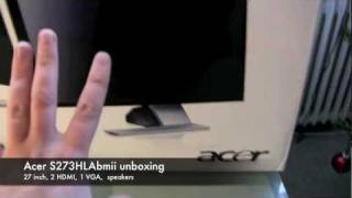 Acer S273HLAbmii 27 inch monitor unboxing