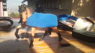 New video :D How to make a horse blanket for your Breyer or Schleich horse.